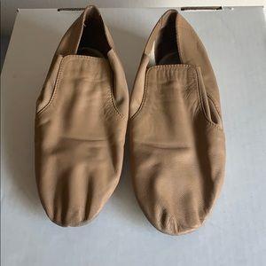 Bloch Leather Elastase Nude Jazz Bootie 7